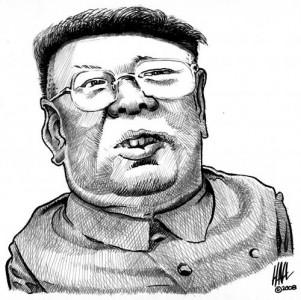 Kim Čen Iro karikatūra