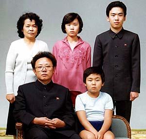Kim Čen Iro šeima. 1981 m. nuotrauka